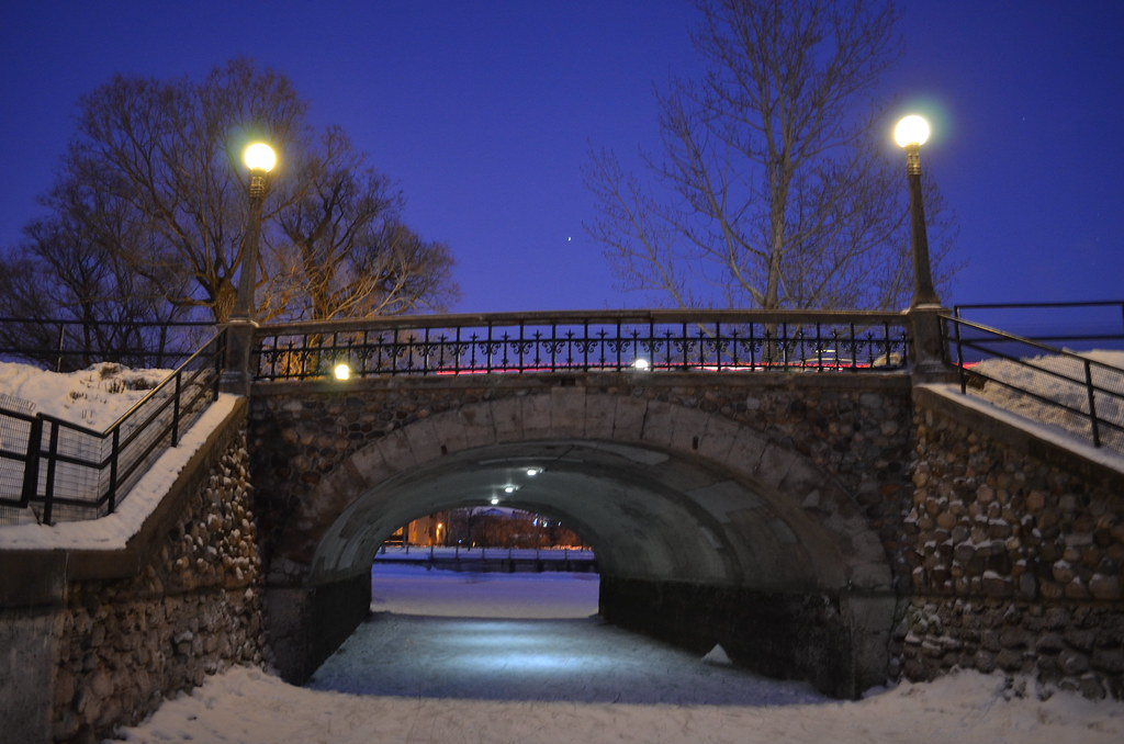 Rideau Canal by night