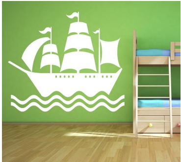 circo pirate wall decal children s pirate room decor sweet days 10607