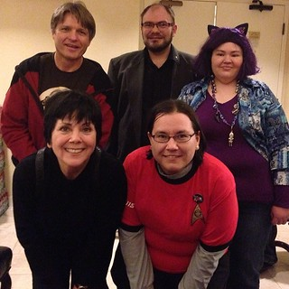 Hanging out with Joyce Dewitt, who played Janet on Threes Company. #GalaxyFest / on Instagram http://instagram.com/p/kyEZERsmqc/