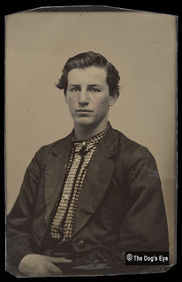 Civil War - Confederate Checkered Battle Shirt: Tintype c1863
