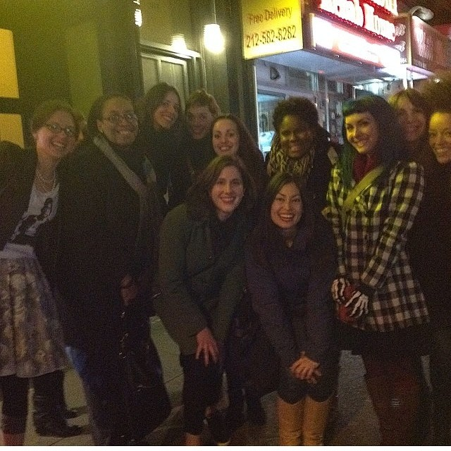Grabbed this from @diaryofasewingfanatic! Dinner crew last night in NYC #sewing #bloggers #meetup