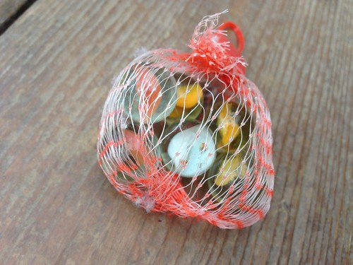 Found in the Melting Snow: Bag of Marbles