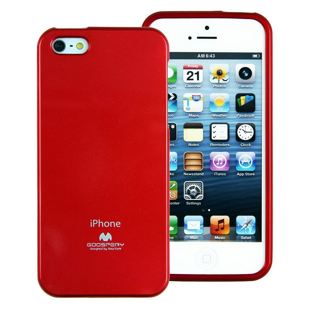 Jelly Case Red For Apple Iphone 5 5s Made In Korea H1279 Ebay Goospery Pearl All Type Special  Yellow Extremely Slim And Form Fitting With Precise Cutouts Your Luxurious Finished Coatings Vibrant Colors