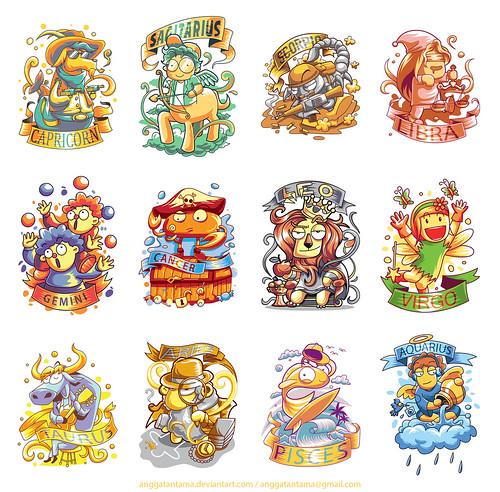 12 Cute Zodiac Character2