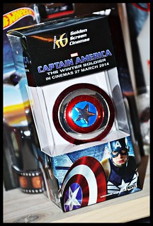 GSC Cinemas Captain America: Winter Soldier keychain shield