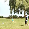 Training my little niece Abby  future #usasoccer player #soccerball #soccergame #soccerlife #lake #michigan #grandrapidsmi #grandrapids #park #usa #family #niece