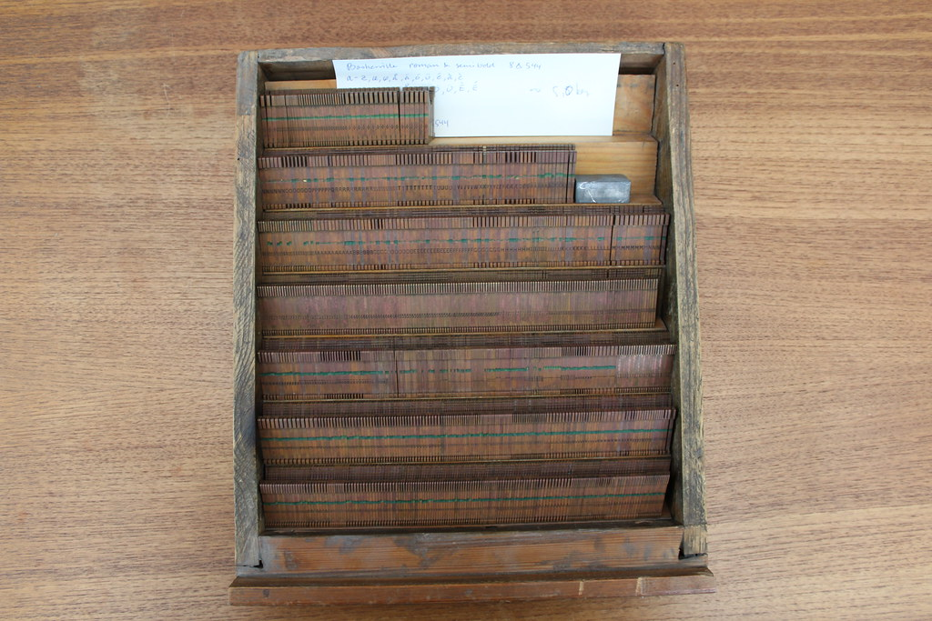 For sale: 8∆544 Linotype/Intertype mats for Baskerville Ro