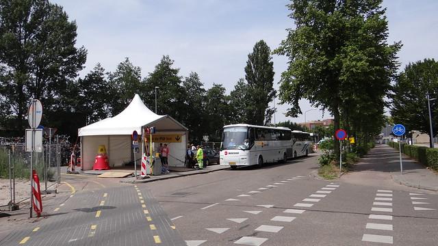 Station Harderwijk, 1 augustus 2015 treinvervangende bus bussen