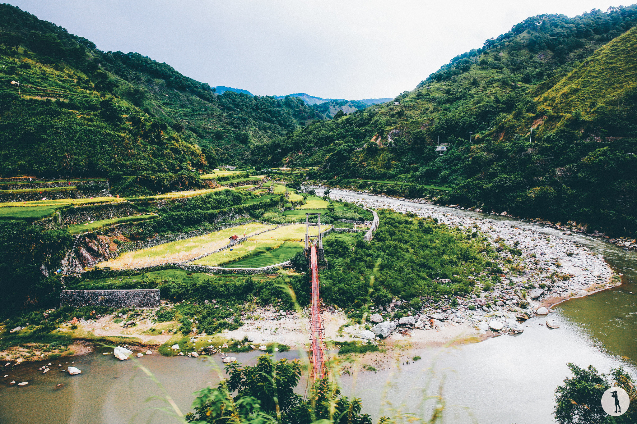Travel to the Philippines - North Luzon, landscapes from the autobus to the rice terraces