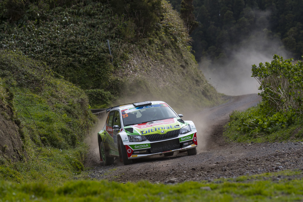 23 BARBOSA Miguel RAMALHO Miguel  Skoda Fabia R5 Action during the 2017 European Rally Championship ERC Azores rally,  from March 30  to April 1, at Ponta Delgada Portugal - Photo Gregory Lenormand / DPPI