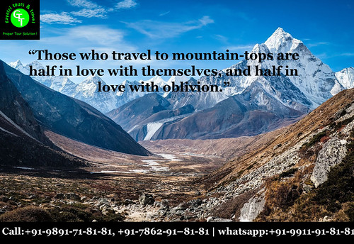Love the mountains quotes | Gayatri Tours | +91-7862918181