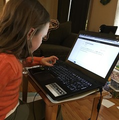 Such a techie. Sending an email to LaLa and PopPop.