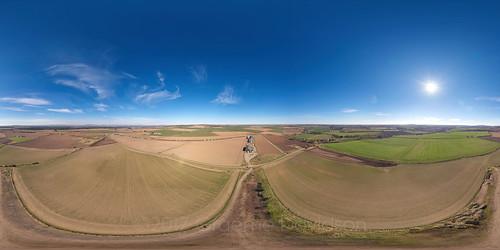 angus scotland uk 2017 kinnell friockheim aerial 360 panorama