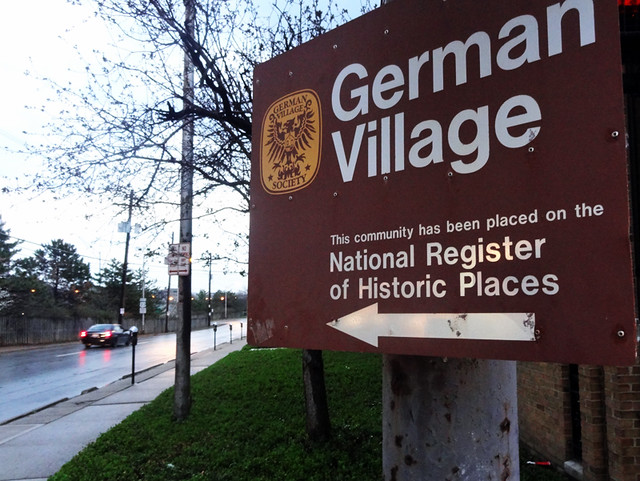 german-village-sign