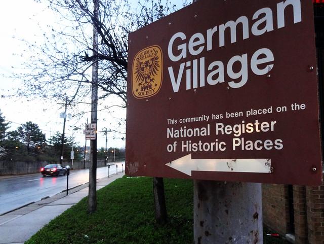 german-village-sign