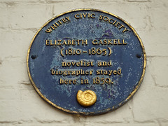 Photo of Elizabeth Gaskell blue plaque