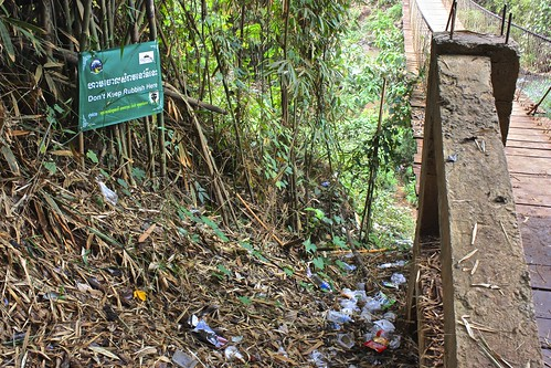 """#lostInTranslation - """"Don't Keep Rubbish Here"""" - This sign is obviously not effective."""