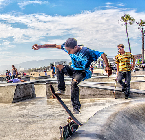 skateboarder at Venice Beach - 2013 -1 by joeeisner