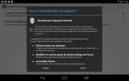 Désactiver sa tablette Android à distance