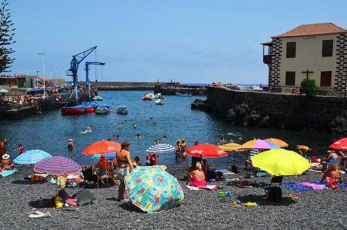 Sunny Sunday at the Harbour in Puerto de la Cruz