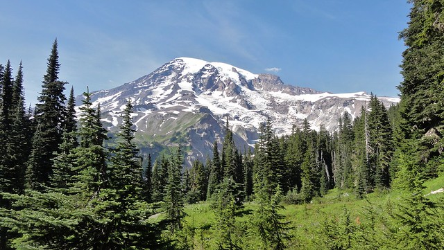 Mount Rainier from Nisqually Vista Trail.
