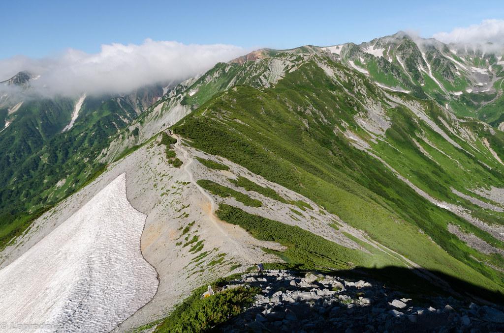 20130811 水晶岳へ至る稜線