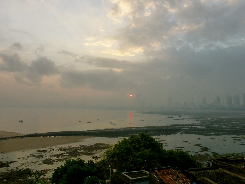 Worli Fort - sunrise across Mahim bay