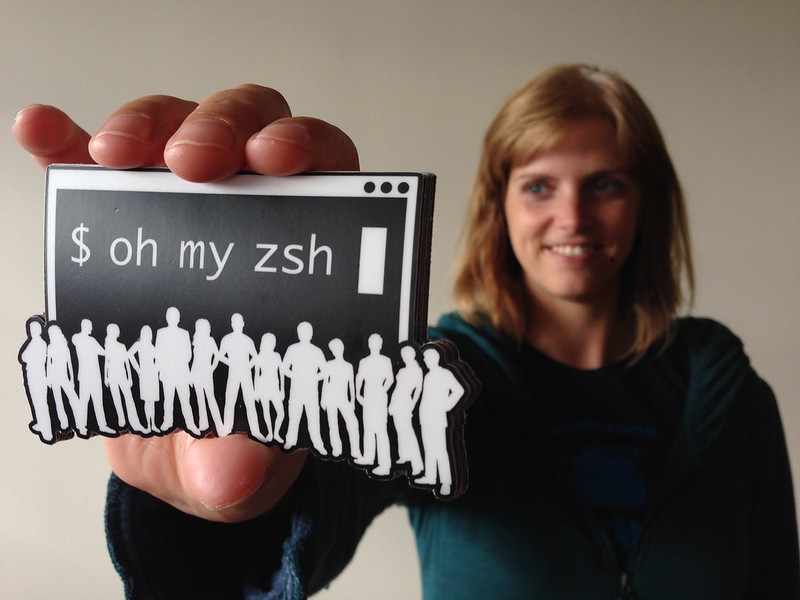 Oh My Zsh stickers in the shop!