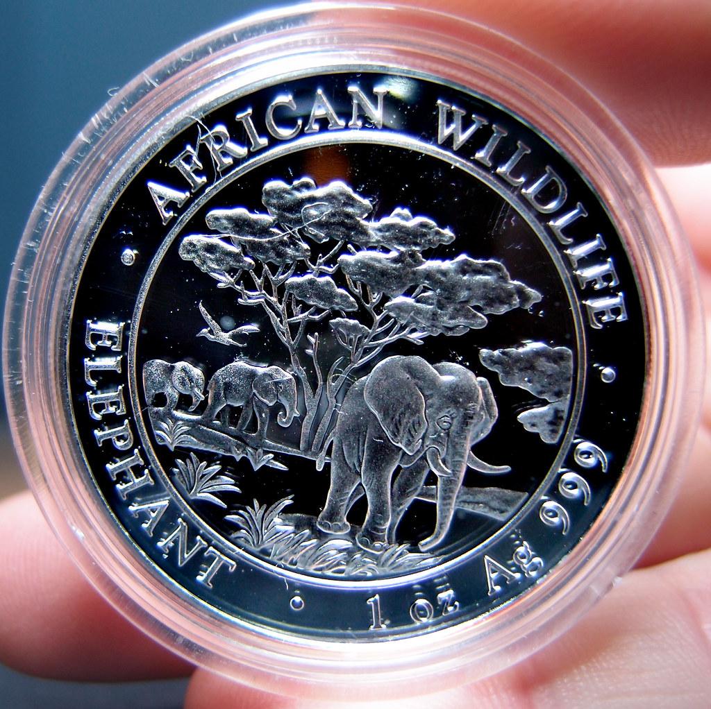 """Colección de onzas de plata """"Somalian African Wildlife""""  10276065263_319dd79c20_b"""