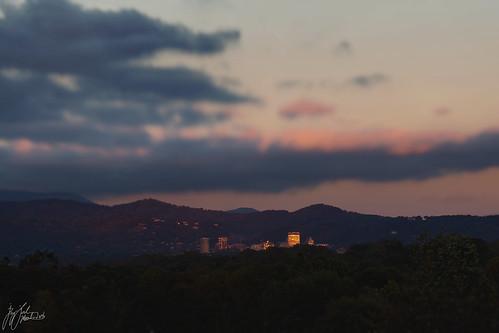 autumn sunset mountains cityscape asheville blueridgemountains hdr wnc ashevillenc highgynamicrange