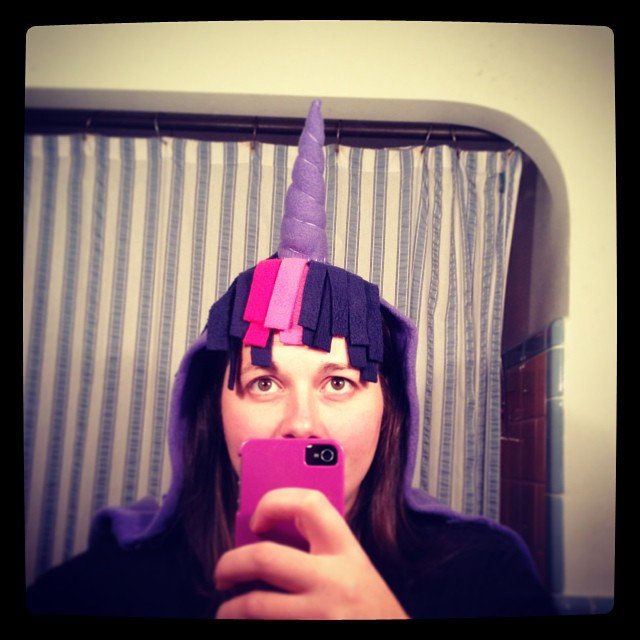 She is going to lose her mind when I show her this tomorrow. #unicorn #twilightsparkle #mlp #mylittlepony #halloween