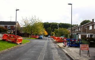 Street lighting being worked on