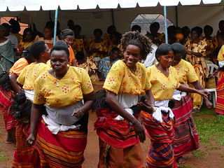 Ugandan women celebrate hope through the help they have received at a legal aid clinic in Kawempe which raises public awareness and protects the legal rights of people affected by HIV/AIDS. The clinic is run by PLAN Uganda with assistance from AusAID