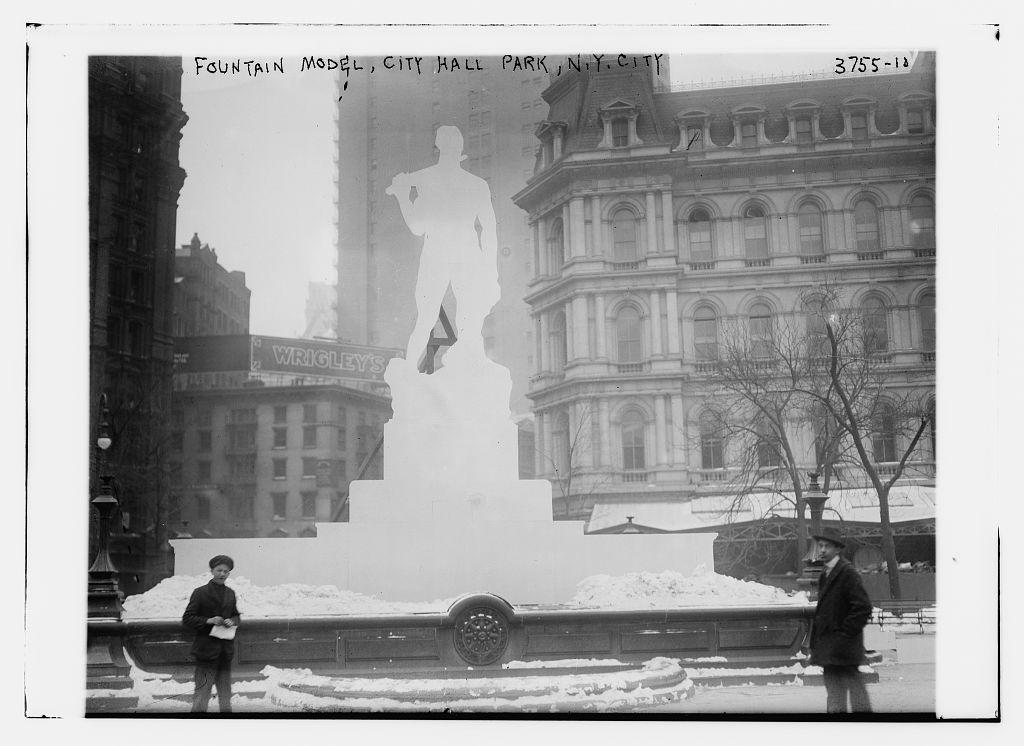 Fountain Model, City Hall Park (LOC)