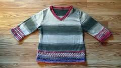 Mosaic-Trim Pullover