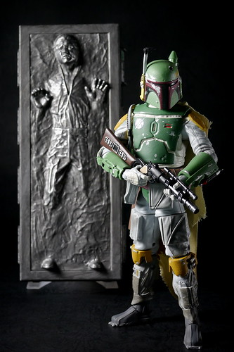 SDCC 2013 Exclusive Hasbro Star Wars Black Series Boba Fett and Han Solo in Carbonite