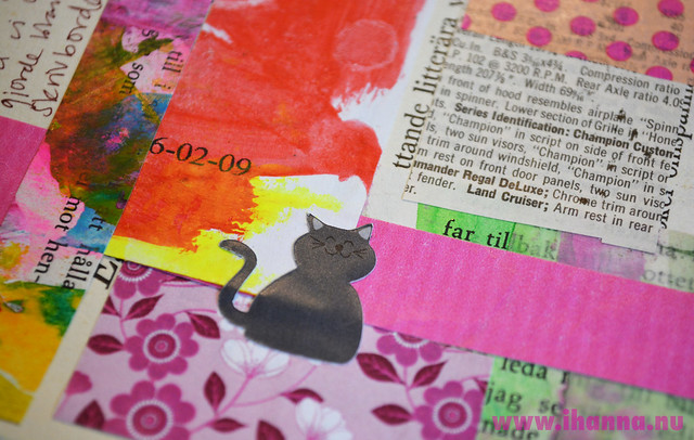 Art Journal Detail: Gray Cat Stickers