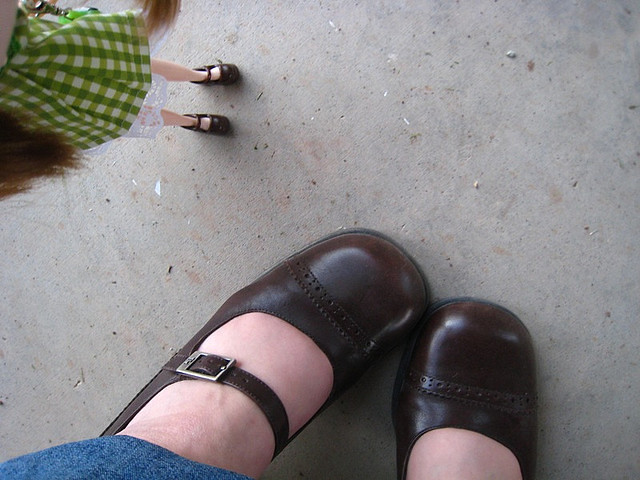 B365-78 Mommy & Me Shoes by SewPixie, on Flickr
