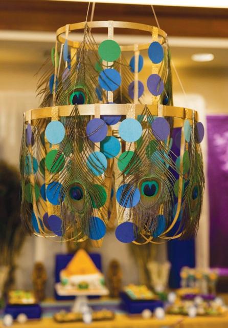 DIY Multi tiered chandelier