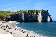 See The White Chalk Cliffs And Arches At Etretat In Normandy