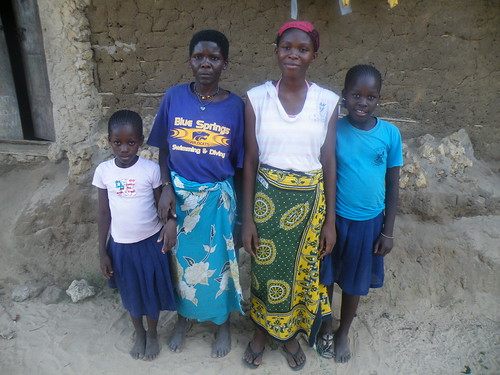 Neema with her mother & two younger sisters