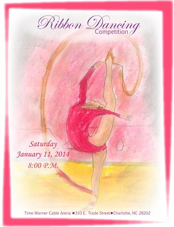 Ribbon Dancing Poster