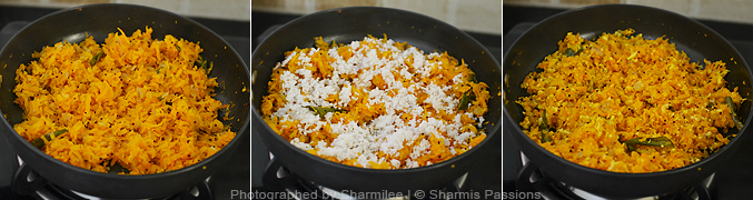 How to make carrot poriyal - Step3
