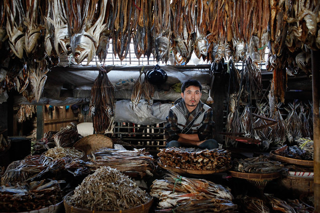 Dried fish seller
