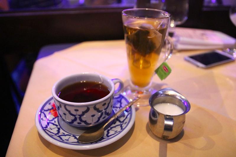 Green tea and Earl Grey tea