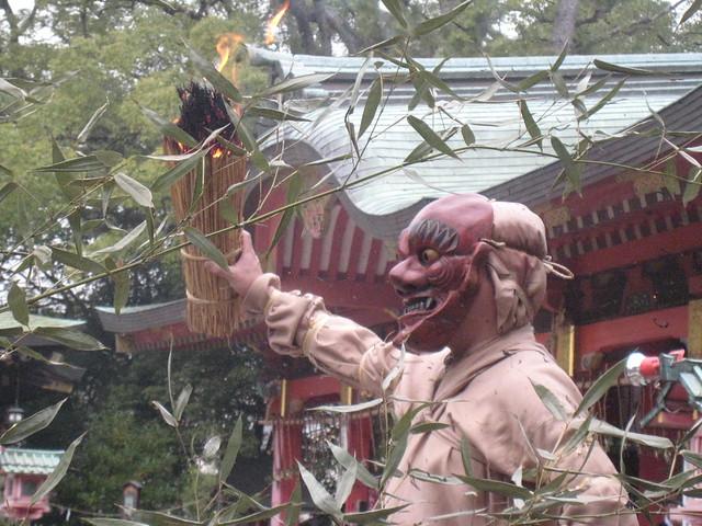 Setsubun Tsuinashiki Demon dance in Nagata Shrine, Kobe