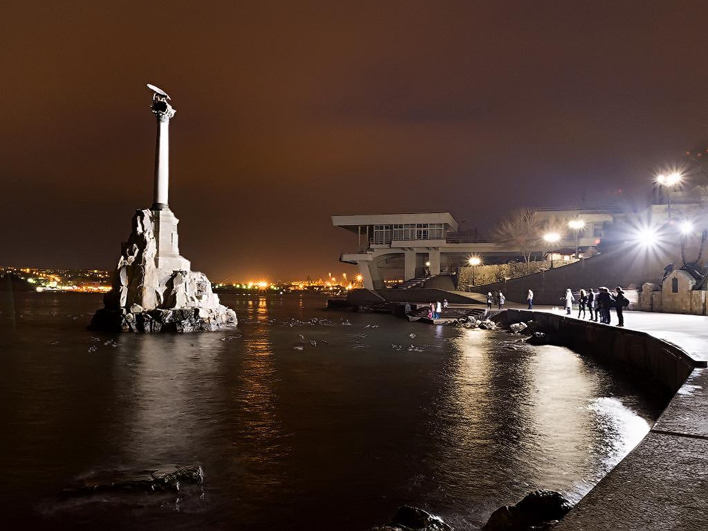 Обои здания, города мира, освещение, ночной город, красота, ночь, набережная. Города foto 15