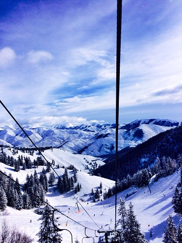 winter ski weather skiing view chairlift
