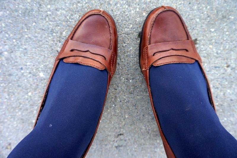 penny loafer heels