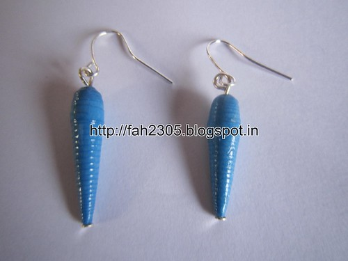 Handmade Jewelry - Paper Beads Earrings (1) by fah2305